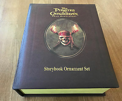 Disney Pirates of the Caribbean Storybook Ornament Set! MINT & unopened!
