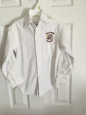 Challenger School Uniform White Long Sleeve Oxford Shirt Size Youth