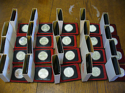 Dealer Lot Of 20 Silver Dollars  1975-1979  Canada  High Grades   .500  Silver