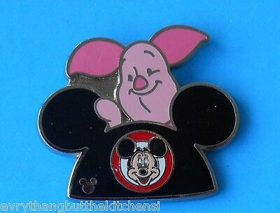 Disney Hidden Mickey Pooh's Piglet Mickey Ears Hat Cast Lanyard Pin  Pp# 112162