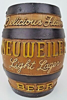 Neuweiler Beer World Renouned Ale Delicious Flavor Light Lager Chalkware Barrel