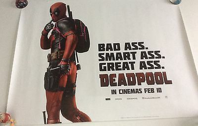 Deadpool 'Great Ass' quad cinema poster. 30 x 40 inches.