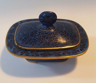 "CHINESE CLOISONNE ENAMEL BOX 4.5"" width and 3"" height"