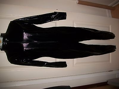 Fever brand Black  wet look  catsuit size small 8 -10