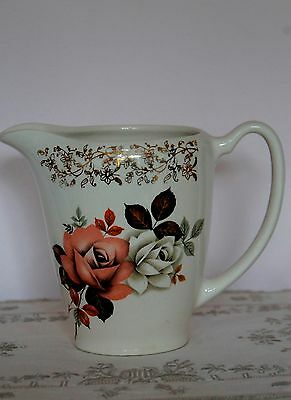 Lord Nelson Pottery jug pitcher apricot roses