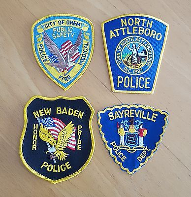 USA - 4 x Different Police Patches - 03