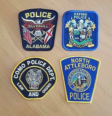 USA - 4 x Different Police Patches - 04