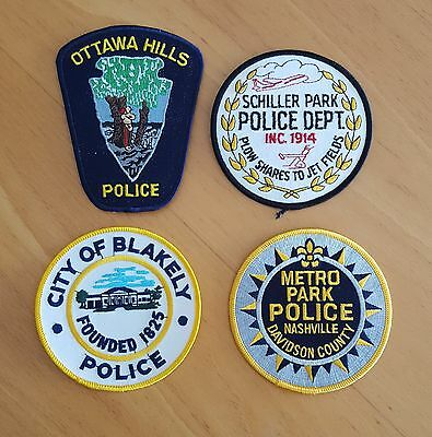 USA - 4 x Different Police Patches - 05