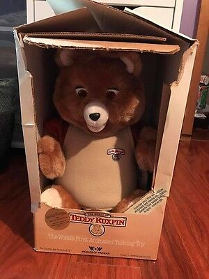 Teddy Ruxpin And Grubby In Boxes With Accessories