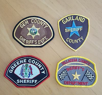 USA - 4 x Different Sheriff Patches - 01