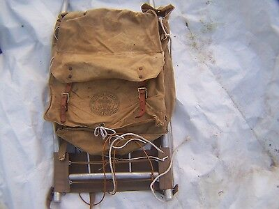 Boy Scouts Of America Large Cruiser Frame  AND 574 YUCCA Canvas Backpack NICE