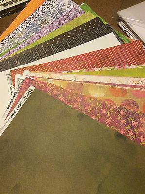 Huge Lot Of 12 X 12 Designed Cardstock Papers