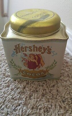 Vintage HERSHEY'S COCOA Metal Tin with Baby beveled Hershey Tin