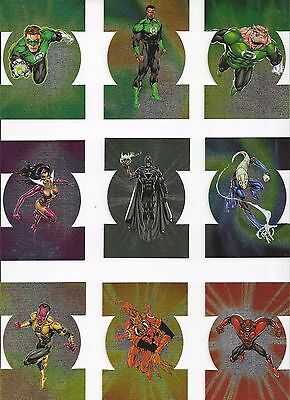 DC Comics: The New 52 LANTERNS DIE-CUT 9-card Chase Set complete LNTRN-1 to 9