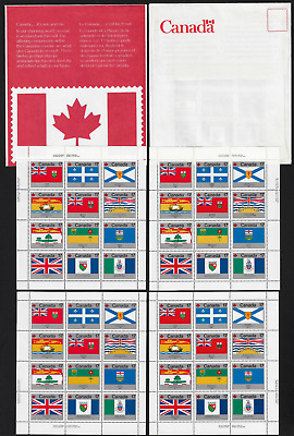 Canada Stamps - Set of 3 Pane of 12 - Provincial & Territorial Flags #832a - MNH