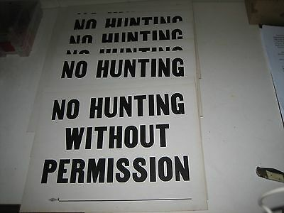 10 Vintage Union Label No Hunting Without Permission Signs Shamokin PA