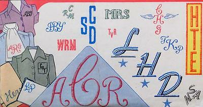 VOGART Embroidery Transfer 122 Smartly Designed Alphabets Monograms His & Hers..
