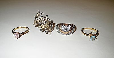 Vintage & Antique STERLING SILVER JEWELRY LOT Plus BEAU TIDAL WAVE RING