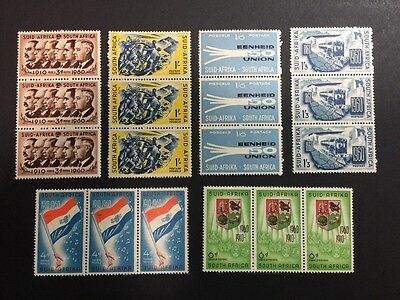 South Africa SC 235-240 MNH Strips of 3! 1960. Gorgeous Set!! Only 99c!!