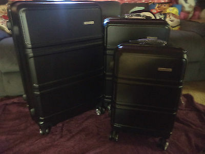 Abs 3 Piece Luggage Set - Black - Brand New In Box