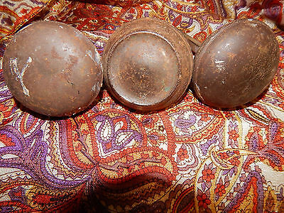 3 Vintage Hollow Door Knobs-2 matching & 1 odd all metal out of 1900 house plain