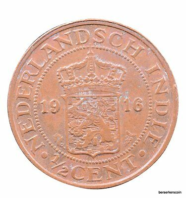 Netherlands East Indies 1/2 Cent 1916 #a2