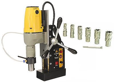 """Steel Dragon Tools® MD40 Magnetic Drill Press with 7pc 1"""" HSS Cutter Kit"""