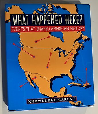 """NIB! Set of """"What Happened Here?"""" Knowledge Cards on Events That Shaped America"""