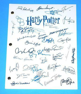 Harry Potter And The Deathly Hallows Part 2 Pt Two Signed Script Ralph Fiennes