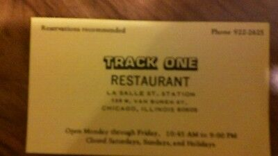 Buisiness card rock island railroad restaraunt