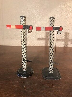 2 X Signals O Gauge - Tin Plate, Made In England