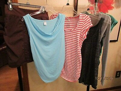 Maternity Clothing Lot Of 6-Tops, Skirt-Petite Small & Small-LA Made, Old Navy