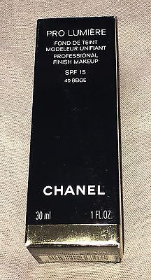 ***rare Discontinued Chanel Pro Lumiere Professional Make Up Shade 40 Beige.***