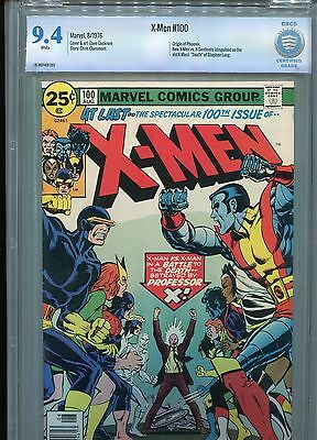 X-Men 100 CBCS 9.4 WHITE Pages CGC Origin of Phoenix 1976 New vs old X-men SALE!