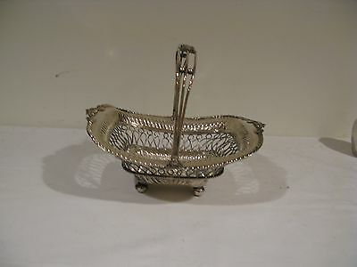 Sheffield Silver Plated Wire Work Basket
