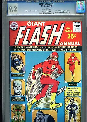 Flash Annual 1 CGC 9.2 OW pages 1963 RARE only 5 copies graded higher!!!
