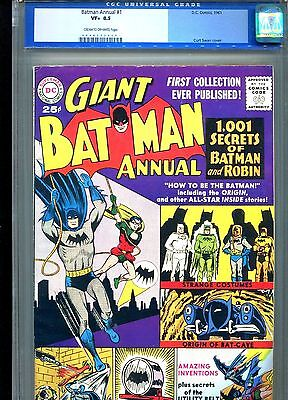 Batman Annual 1 CGC 8.5 C/OW pages 1961 RARE only 12 copies graded higher!!!
