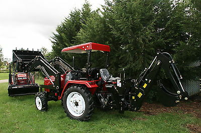 New 30hp Tractor, Backhoe, Front End Loader 4 In 1 Bucket, 4wd