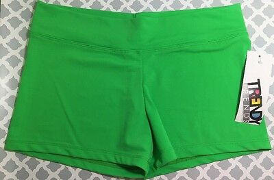 New With Tags Juniors Trendy Trends Green Dance Booty Shorts Size Medium Read
