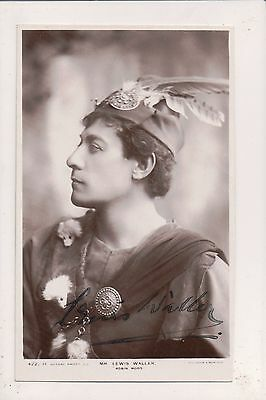 Signed Real Photo Postcard Lewis Waller