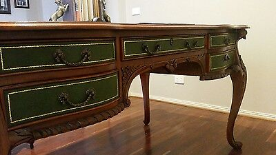 Writing desk . Beautiful piece  with ornate legs. Consiting of  10 drawers..