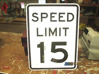 (4) 12x18 SPEED LIMIT 10 15 15 35 MPH Road Street Traffic Highway Sign Vintage