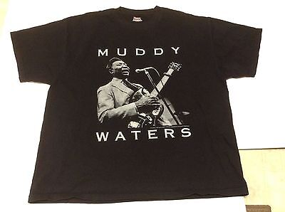 MUDDY WATERS Chicago Blues black concert tour rock shirt copyright 1992 Size XL