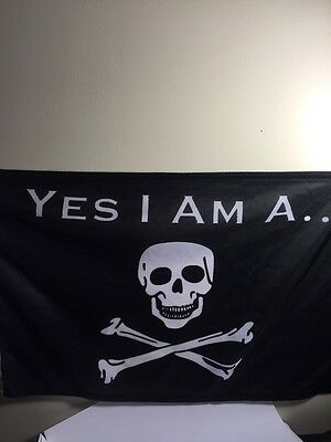 Jimmy Buffett Fans Yes I Am A Pirate ... Boat Flag Free Shipping