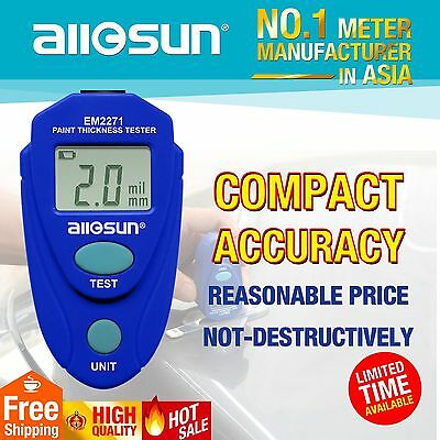 Painting Thickness Gauge Non-magnetic Coat Thickness Meter Mini Tester US ship