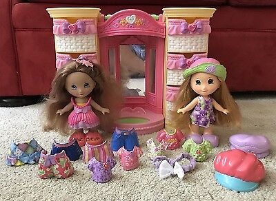 Fisher Price Snap n Style 2 Dolls W/ WARDROBE CLOTHES, SHOES & ACCESSORIES