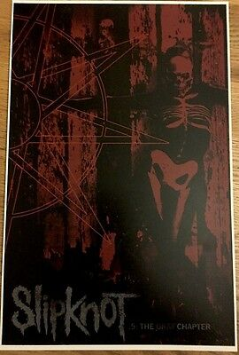 Slipknot  5. The Gray Chapter.11x17 Tour Poster 2015 HEAVY CARD STOCK POSTER!