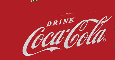 Large White  Coca Cola Decal Vinyl Graphic For Restoration