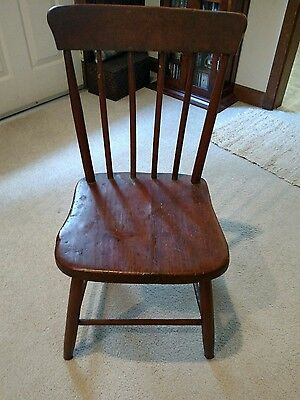 Antique 18th Century to end of Federalist Period Primitive Chair RARE American