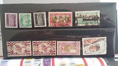 New Caledonia -  mix lot of 9 used stamps lot11